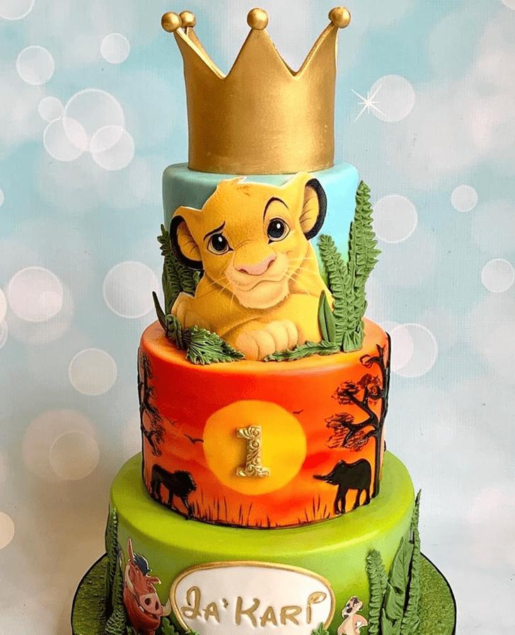 Captivating Lion Cub Cake