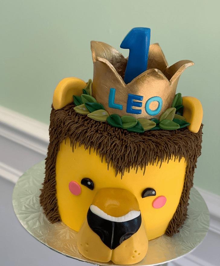 Charming Lion Cub Cake