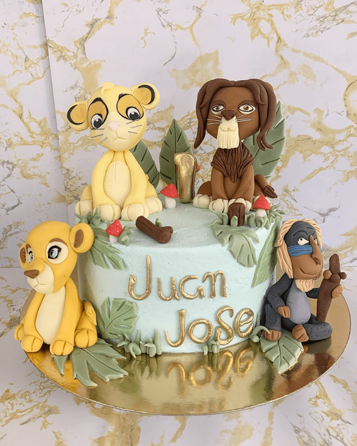 Admirable Lion King Cake Design