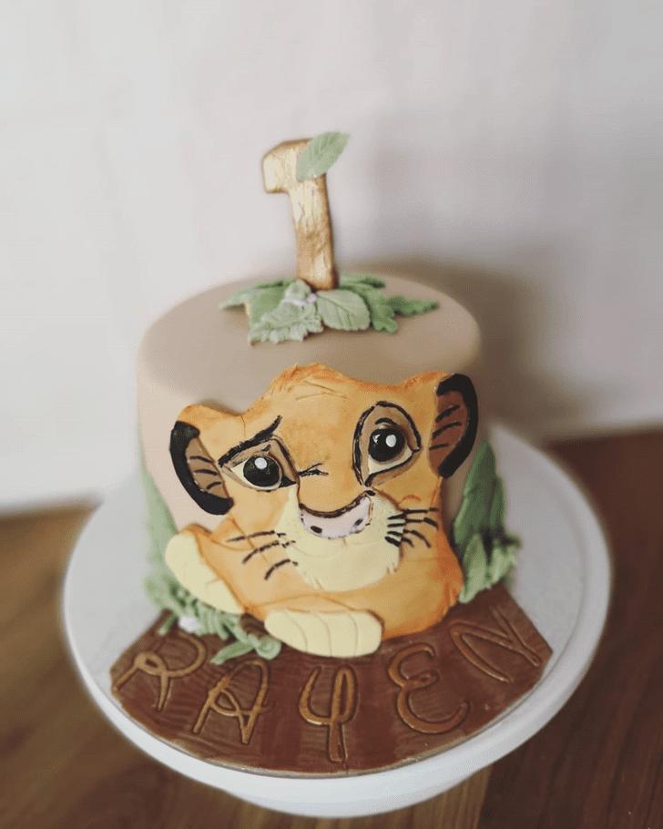 Dazzling Lion King Cake