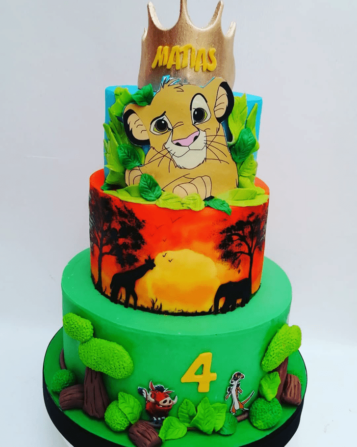 Delicate Lion King Cake