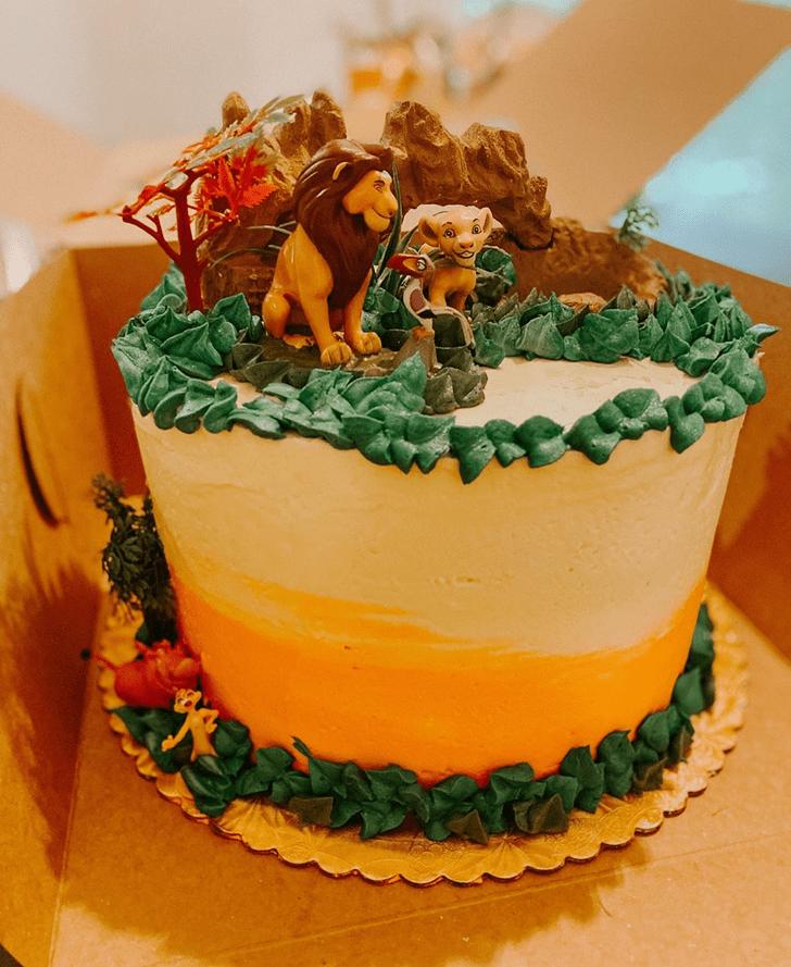 Delightful Lion King Cake