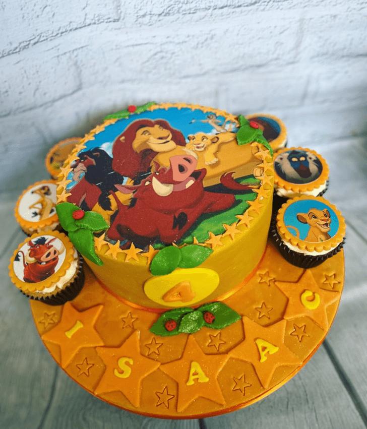 Enticing Lion King Cake