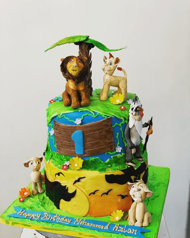 Gorgeous Lion King Cake