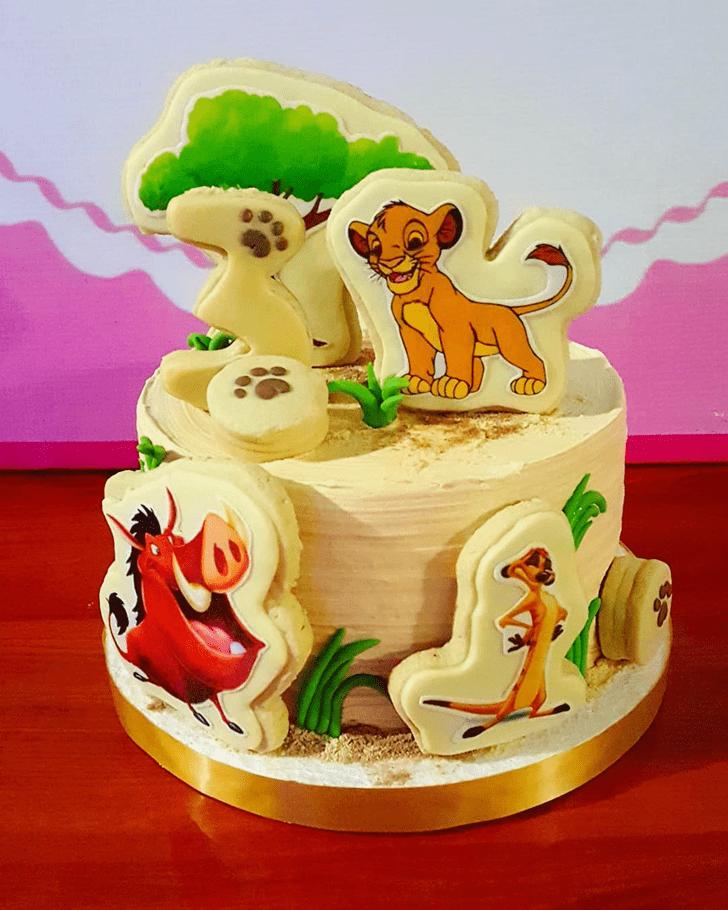 Graceful Lion King Cake