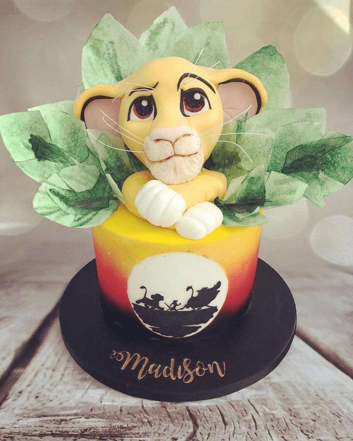 Handsome Lion King Cake