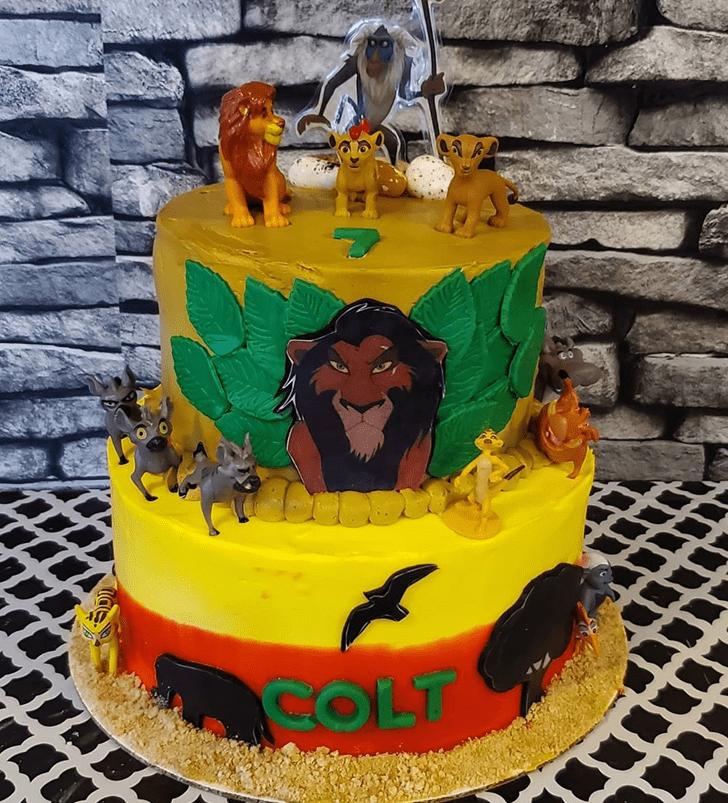 Ideal Lion King Cake
