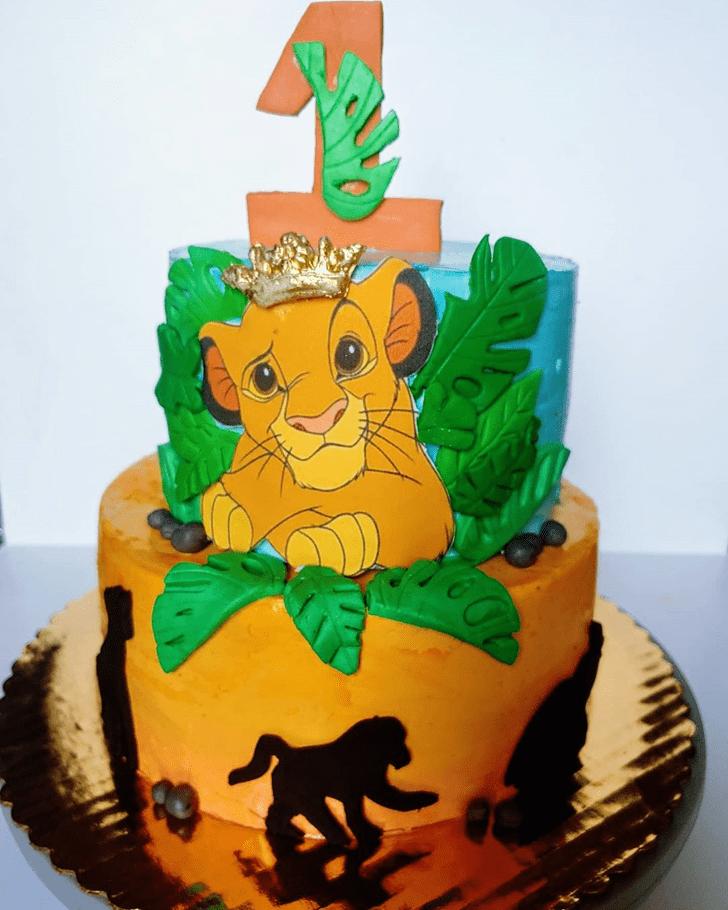 Lovely Lion King Cake Design
