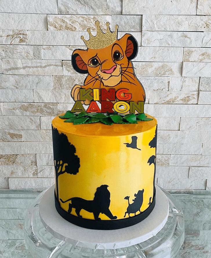 Magnificent Lion King Cake