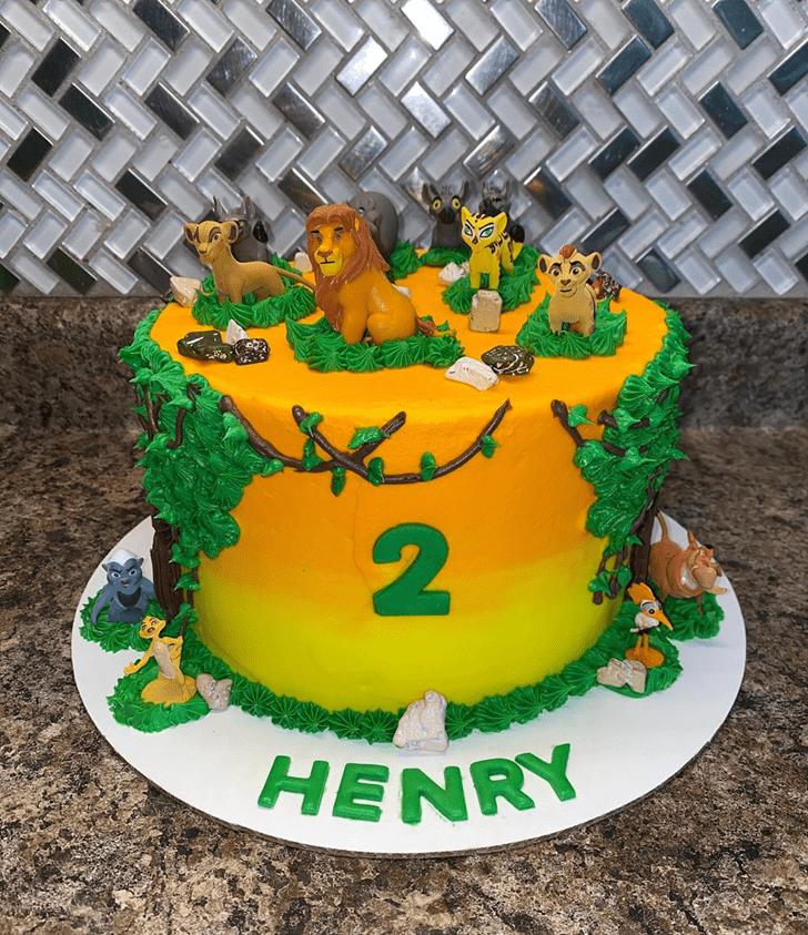 Mesmeric Lion King Cake