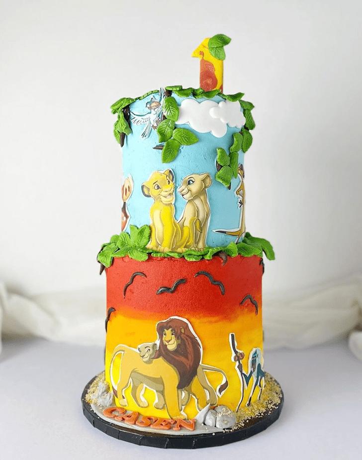Nice Lion King Cake