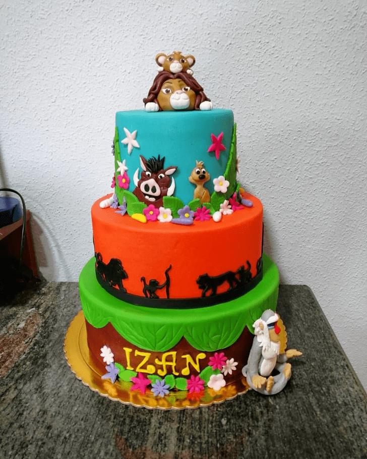 Pleasing Lion King Cake