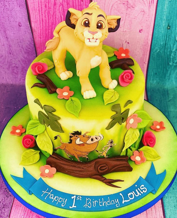 Pretty Lion King Cake