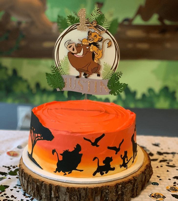 Ravishing Lion King Cake