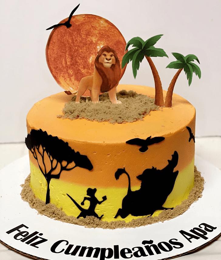 Splendid Lion King Cake