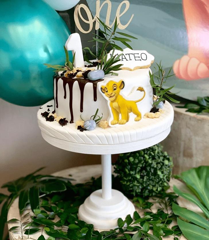 Superb Lion King Cake