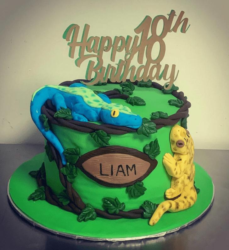 Admirable Lizard Cake Design