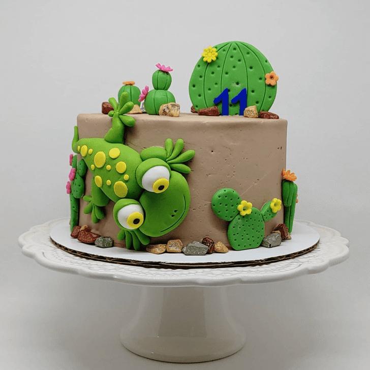 Adorable Lizard Cake