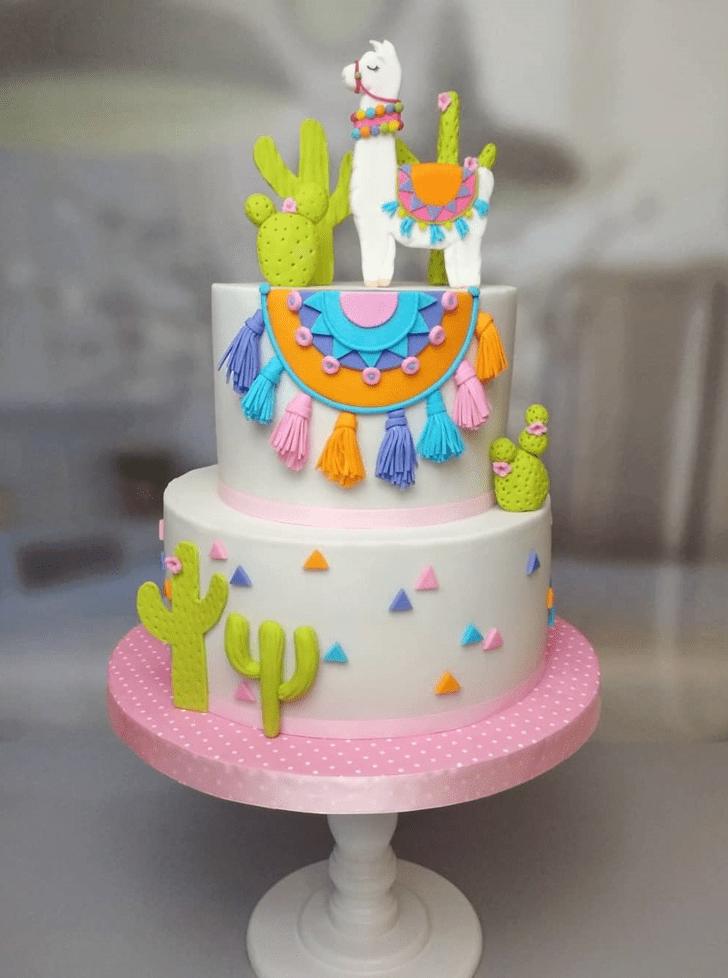 Alluring Llama Cake