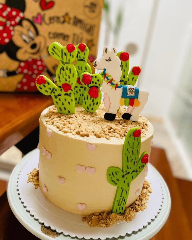Appealing Llama Cake
