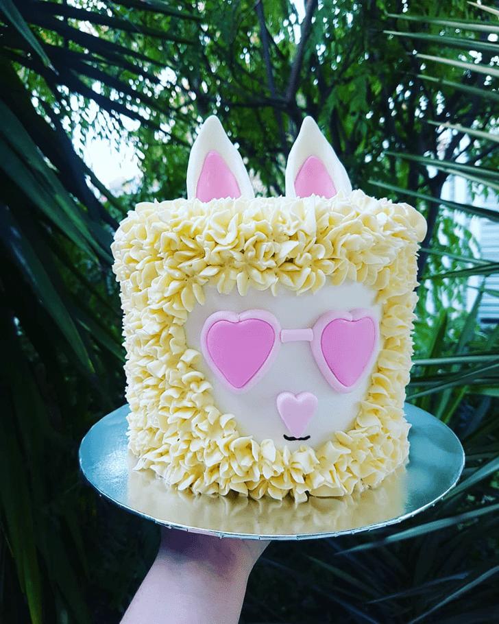 Beauteous Llama Cake