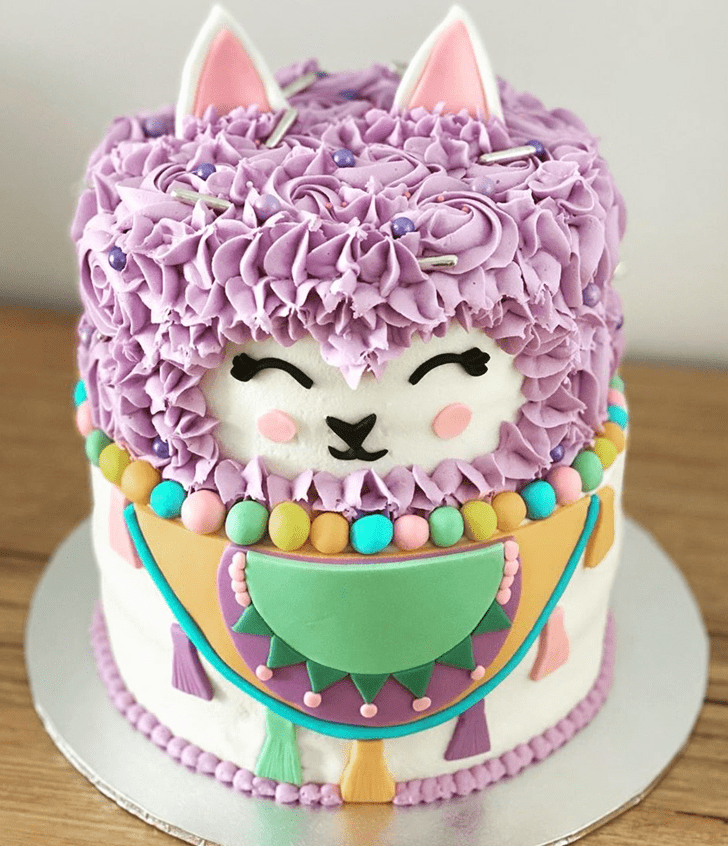 Captivating Llama Cake