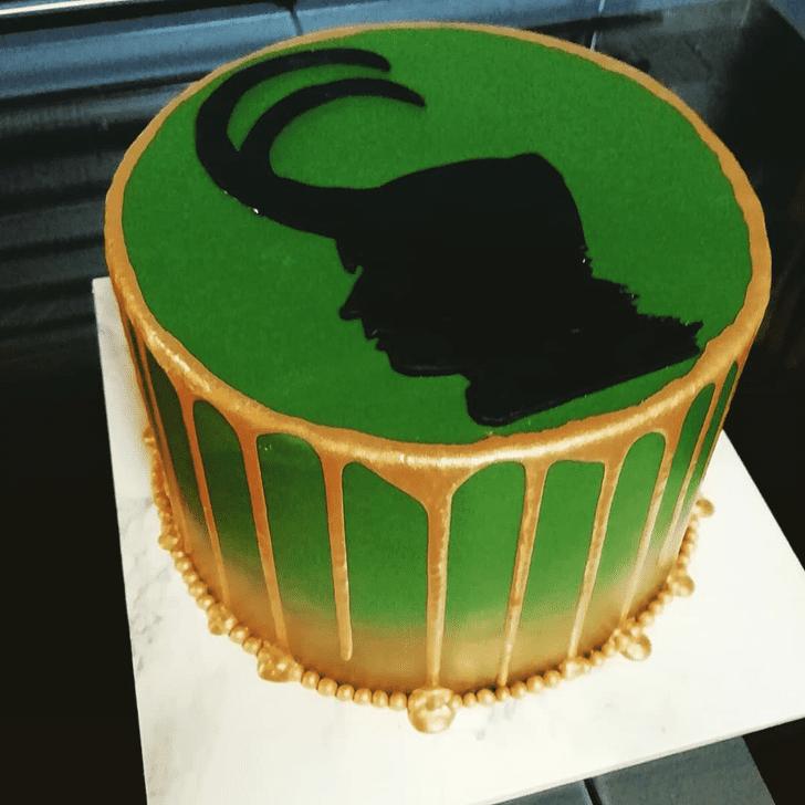 Adorable Loki Cake