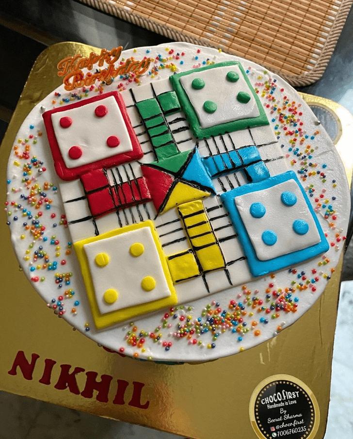 Charming Ludo Cake