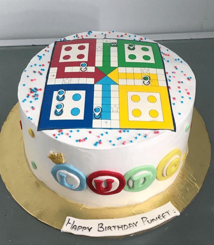 Cute Ludo Cake