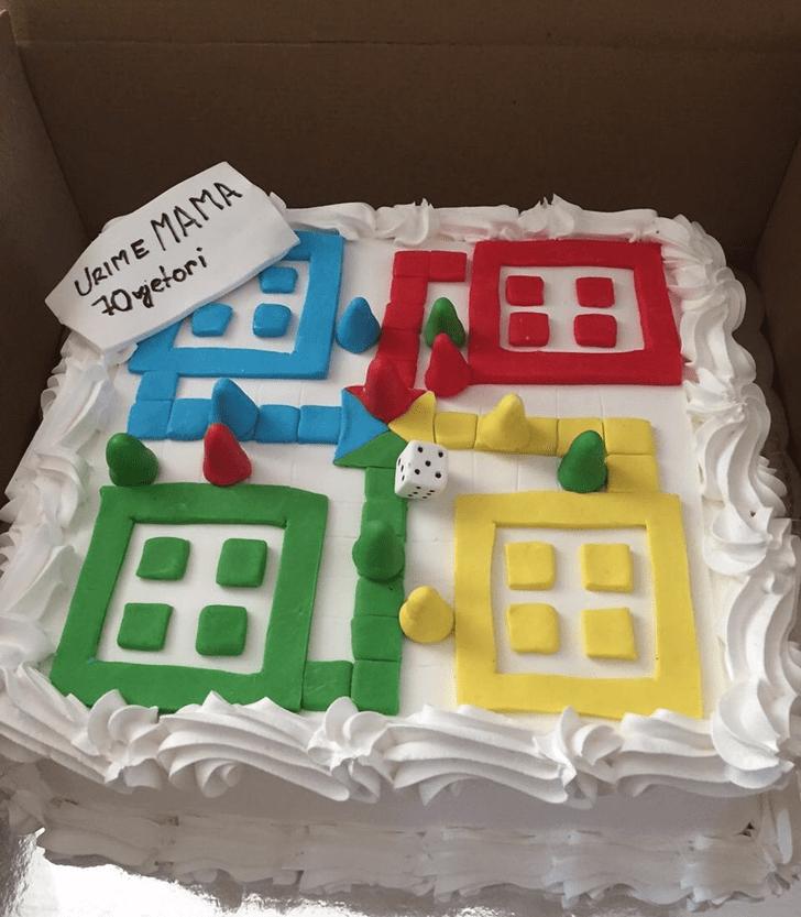 Delicate Ludo Cake
