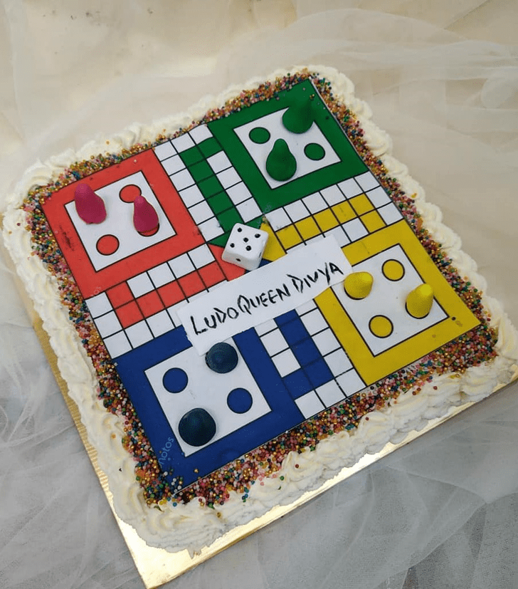 Elegant Ludo Cake