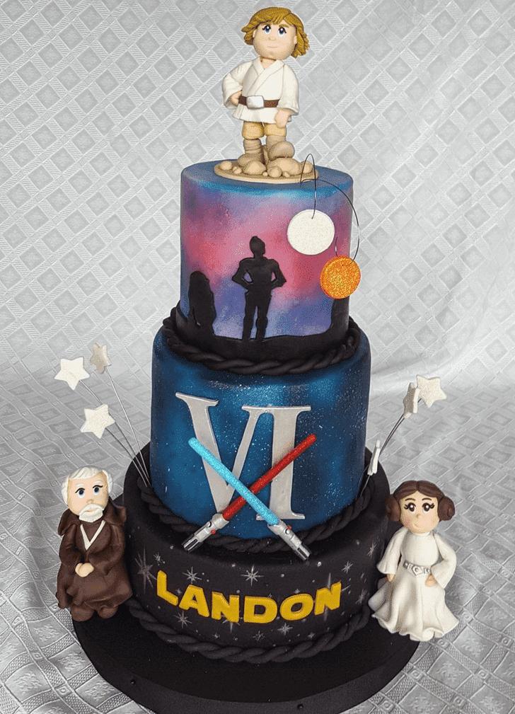Admirable Luke Skywalker Cake Design