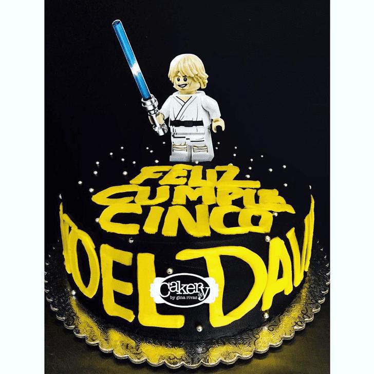 Delicate Luke Skywalker Cake