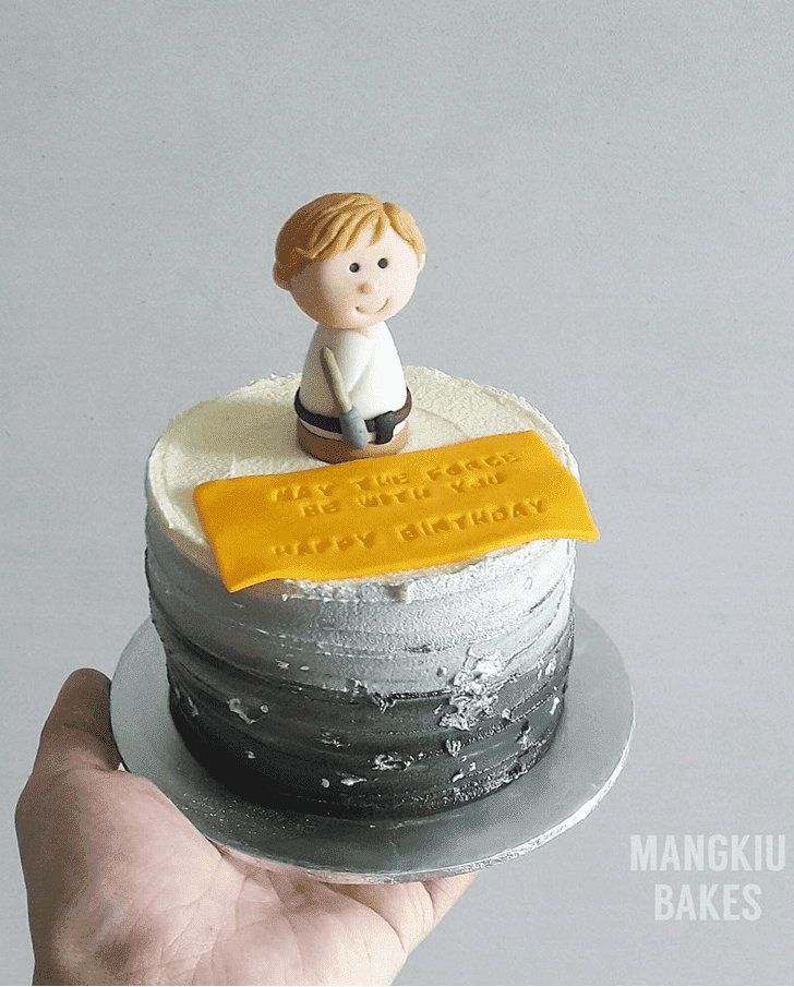 Exquisite Luke Skywalker Cake