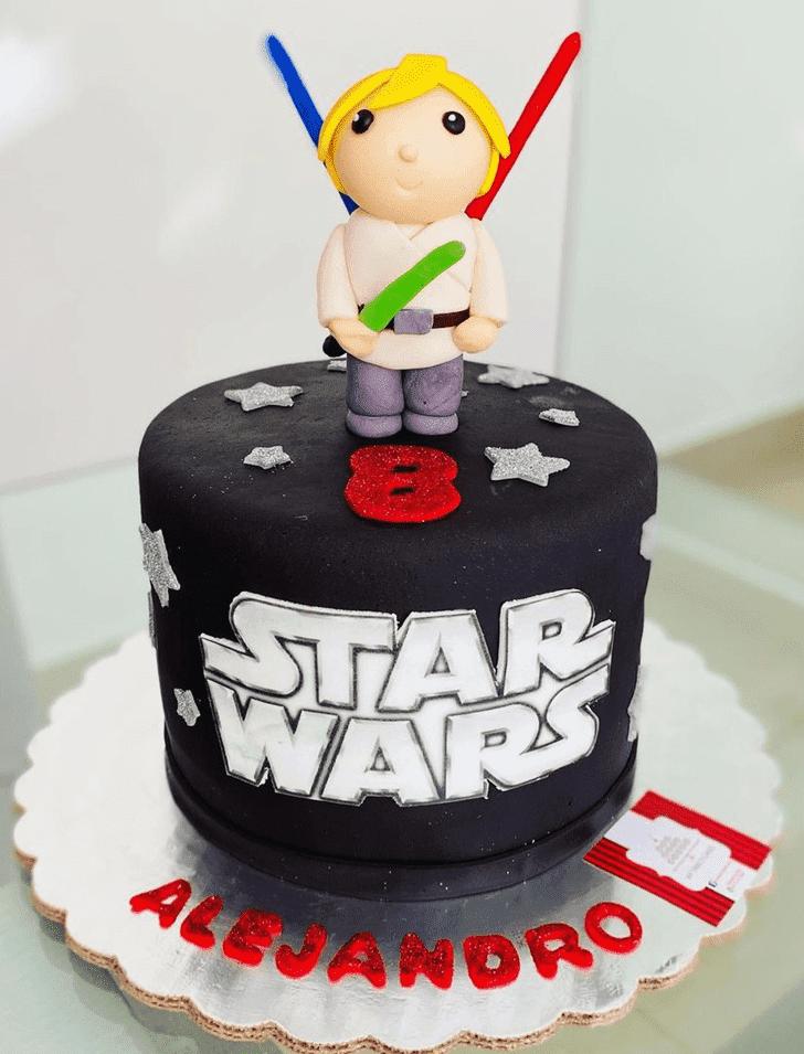 Fetching Luke Skywalker Cake