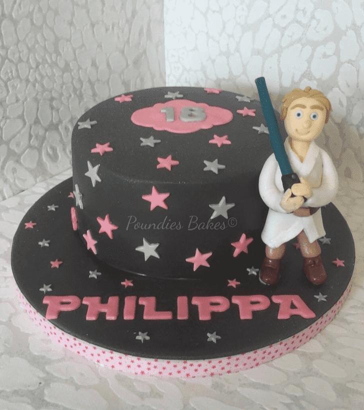 Gorgeous Luke Skywalker Cake
