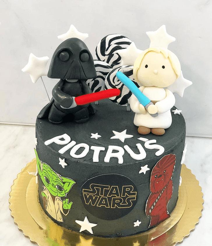 Graceful Luke Skywalker Cake