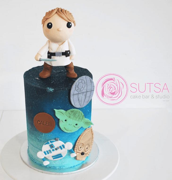 Handsome Luke Skywalker Cake