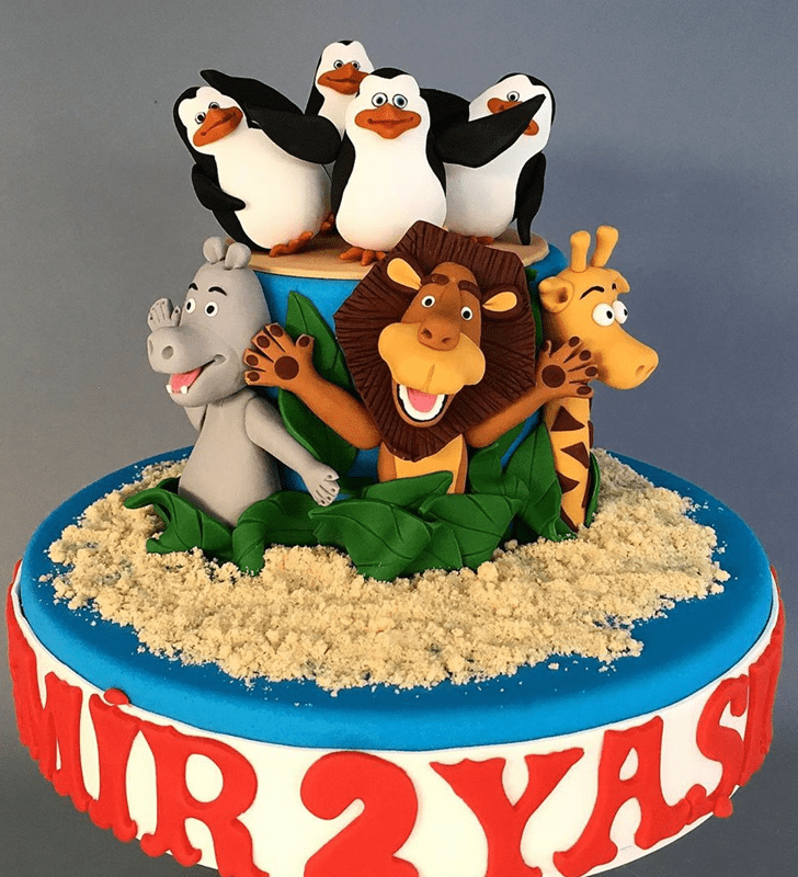 Adorable Madagascar Cake