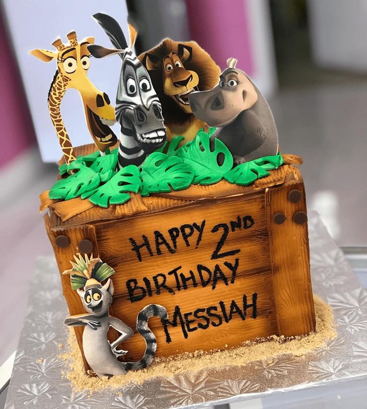 Lovely Madagascar Cake Design