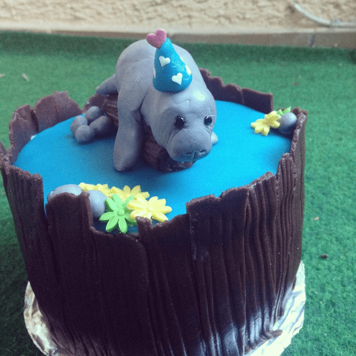 Adorable Manatee Cake
