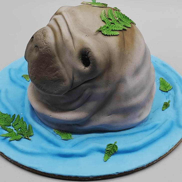 Alluring Manatee Cake