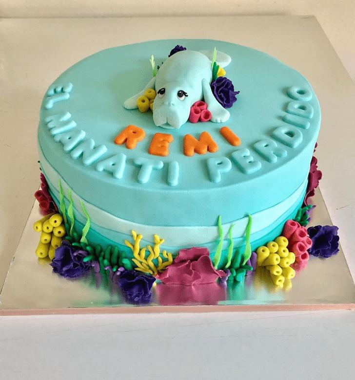 Angelic Manatee Cake