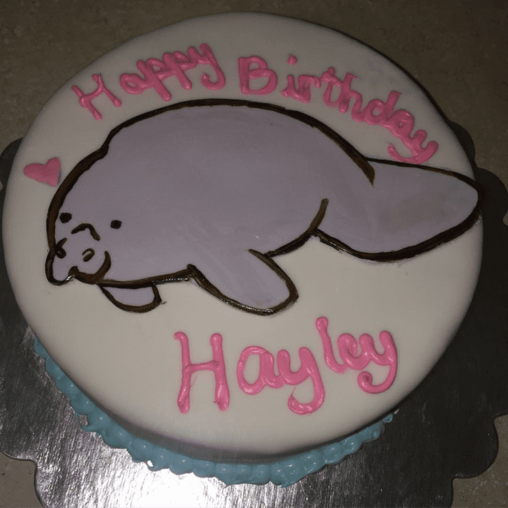 Beauteous Manatee Cake