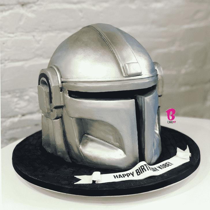 Admirable Mandalorian Cake Design