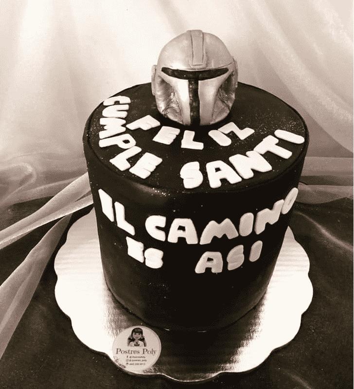 Beauteous Mandalorian Cake