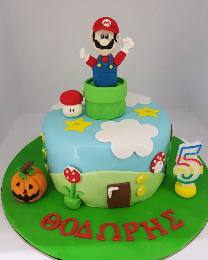 Captivating Mario Cake