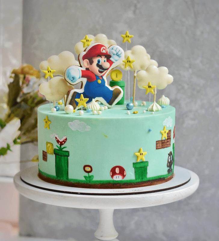 Radiant Mario Cake
