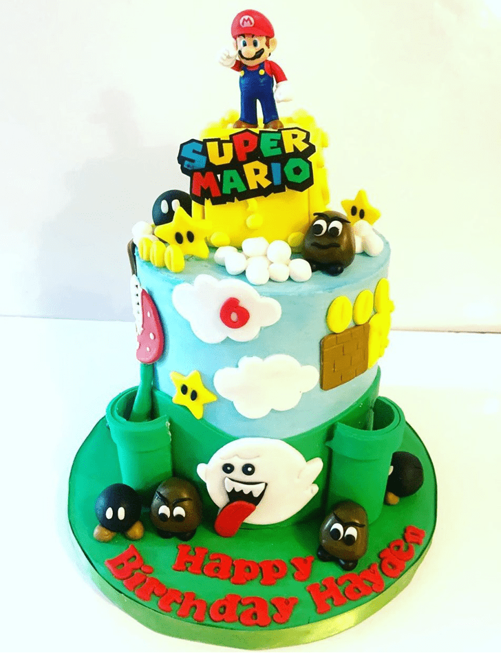 Slightly Mario Cake