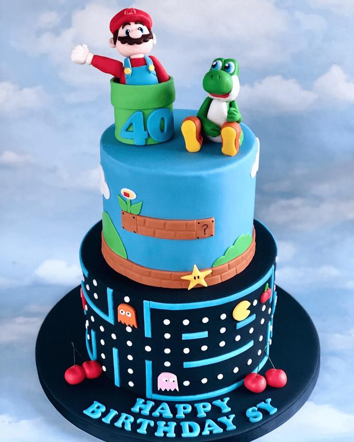 Superb Mario Cake